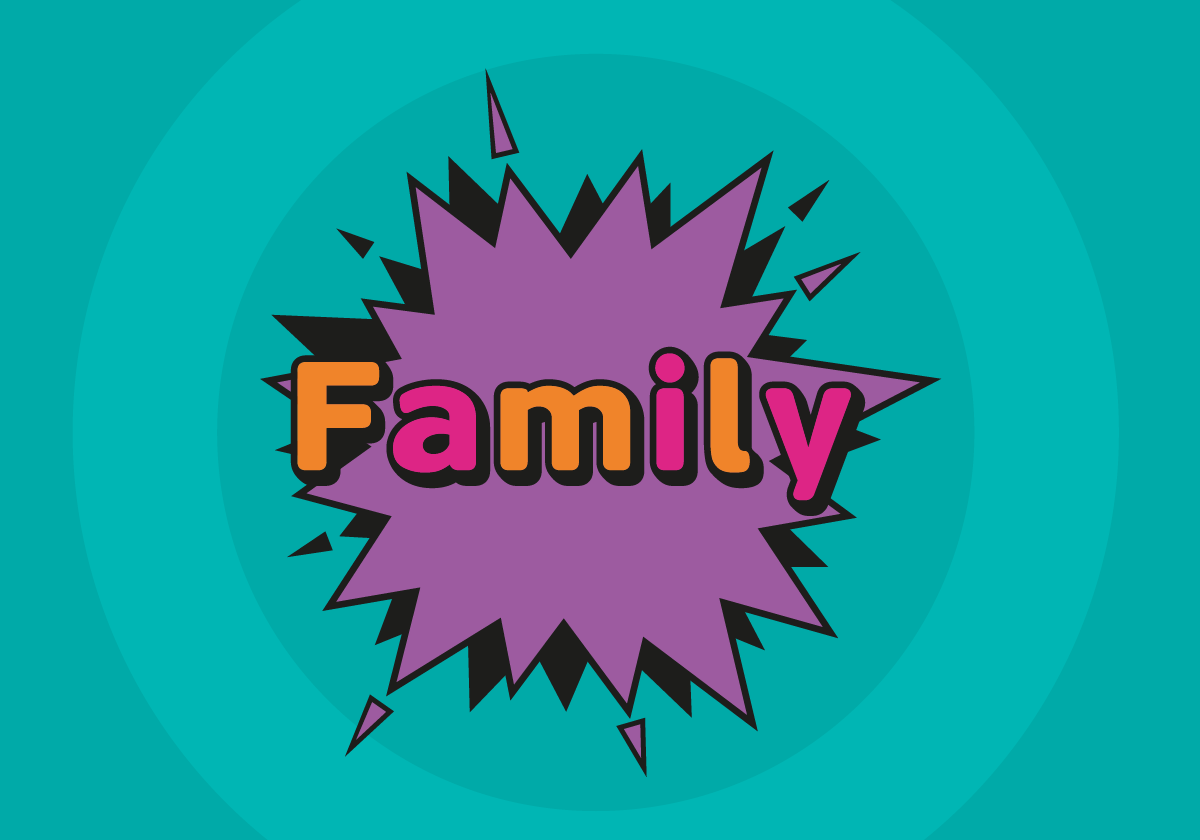 Family header graphic